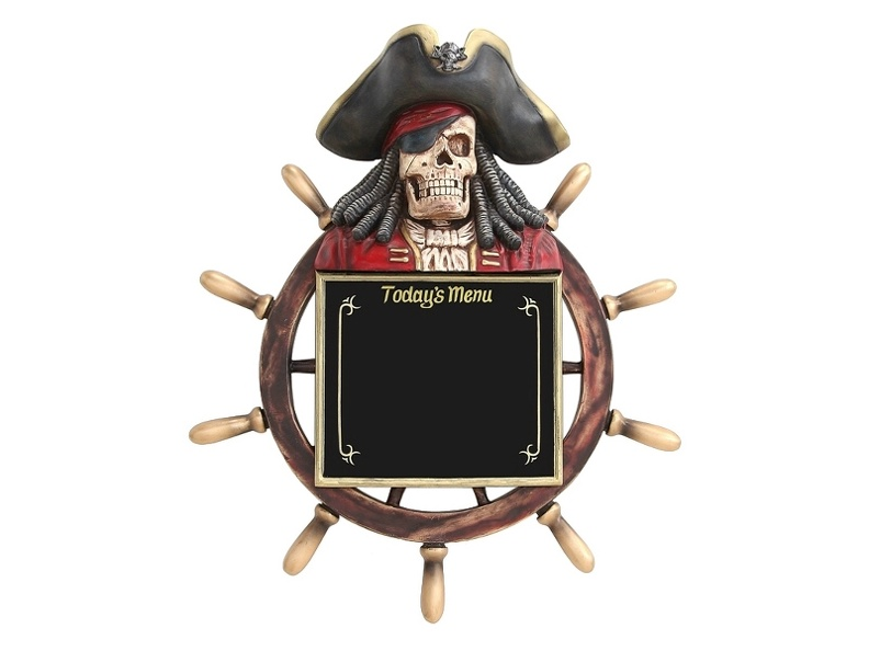 831_SKELETON_PIRATES_SHIPS_WHEEL_MENU_BOARD.JPG