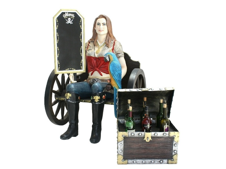 JBP078_LIFE_SIZE_ANNE_BONNY_PIRATE_WAGON_WHEEL_WOOD_EFFECT_CHAIR_WINE_CHEST_HOLDER_ADVERTISING_BOARD.JPG