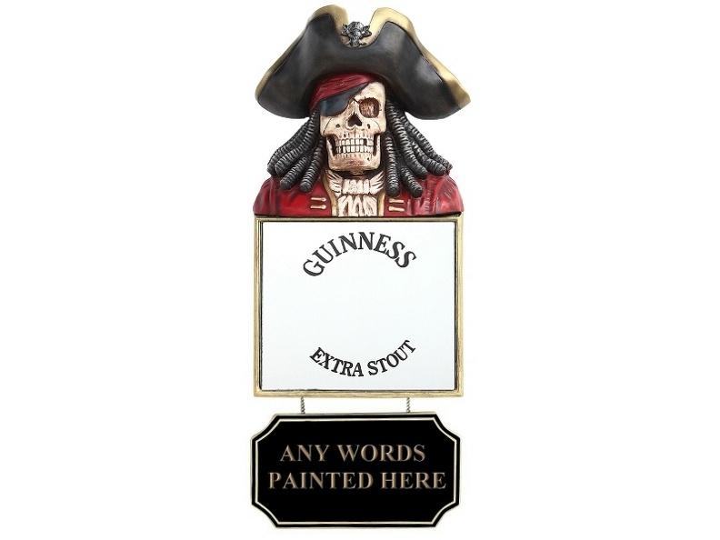 JBP189_SKELETON_PIRATE_GUINNESS_MIRROR_MENU_ADVERT_BOARD_2.JPG