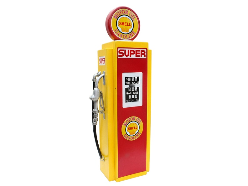 JJ992_SHELL_MOTOR_OIL_GASOLINE_VINTAGE_GAS_PUMP_WITH_OPENING_DOOR_BUILT_IN_SHELFS_YELLOW_RED_1.JPG