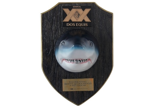402 BEER SHARKS HEAD BOTTLE OPENER DARK WOOD 1