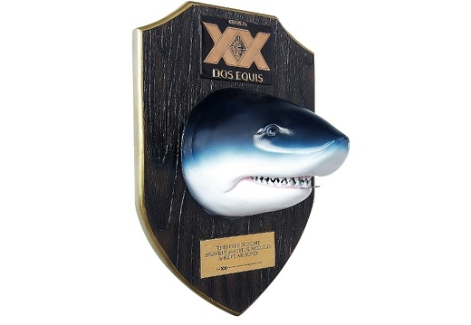 402 BEER SHARKS HEAD BOTTLE OPENER DARK WOOD 2