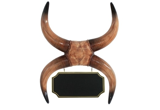 ARB036 WALL MOUNTED DOUBLE BULL HORN ADVERTISING BOARD