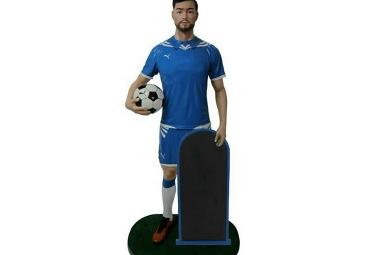 B0532 LIFE SIZE SOCCER FOOTBALL PLAYER ADVERTISING CHALK BOARD ALL TEAMS PLAYERS AVAILABLE 1