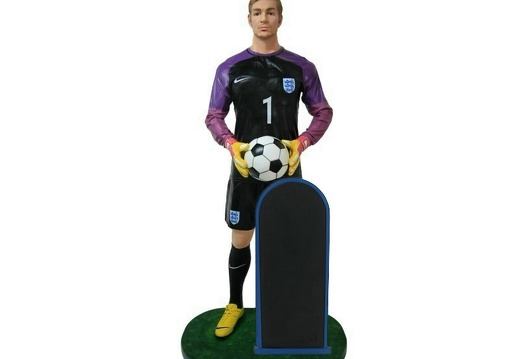 B0533 LIFE SIZE FOOTBALL SOCCER PLAYER ADVERTISING CHALKBOARD ALL TEAMS PLAYERS AVAILABLE 1