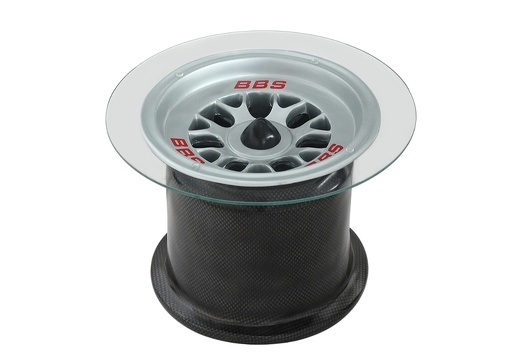 20 - Formula One Tire Rim Table With Carbon Fiber Effect