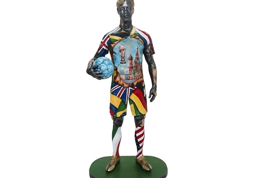 1570 - Life Size Football Statue - Russian World Cup - 2018 - 1