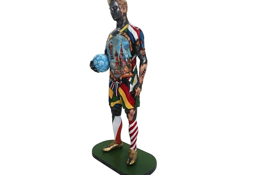 1570 - Life Size Football Statue - Russian World Cup - 2018 - 3