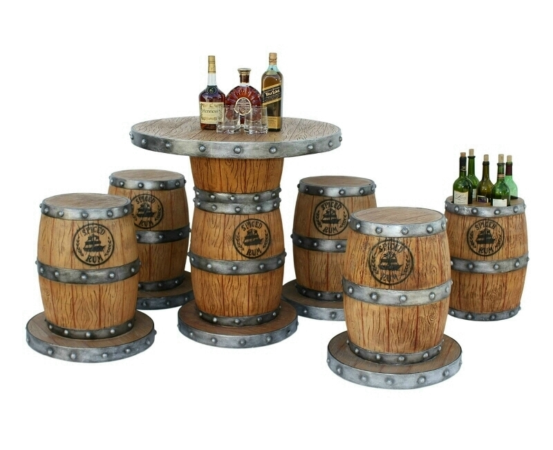 Beer And Wine Barrel Seating Set