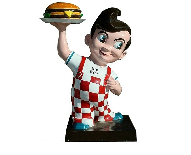 Burger Boy Advertising Sign Statue