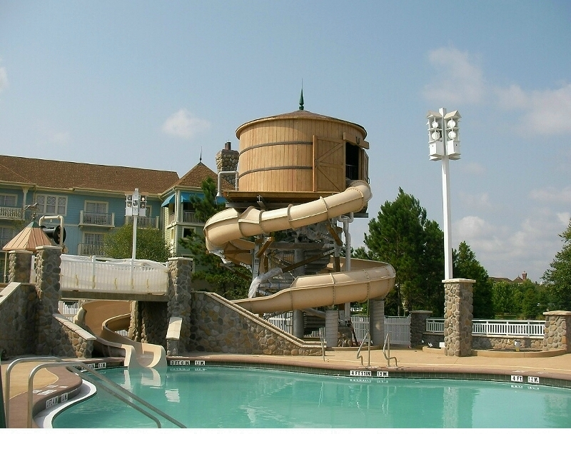 Fiberglass Wood Effect Water Barrel Slide