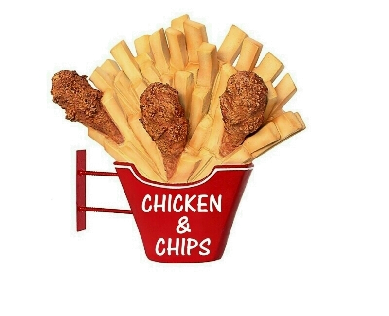 Fried Chicken & Chips Advertising Display