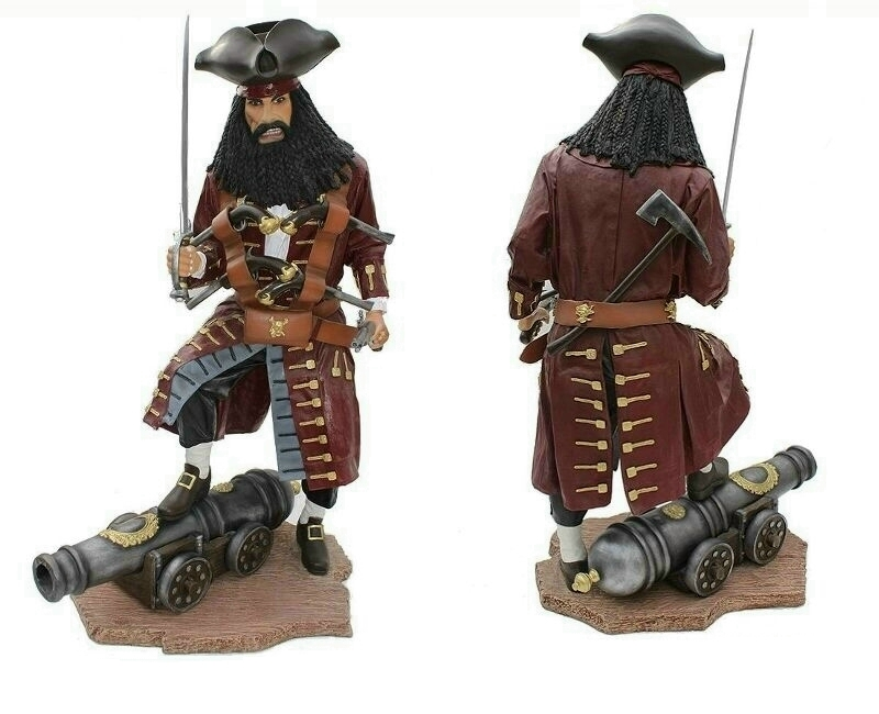 Life Size Black Beard Pirate Statues