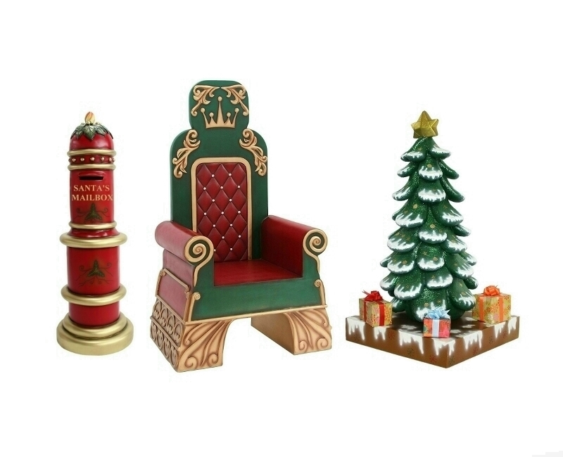 Santas Throne Santas Mailbox & Christmas Tree