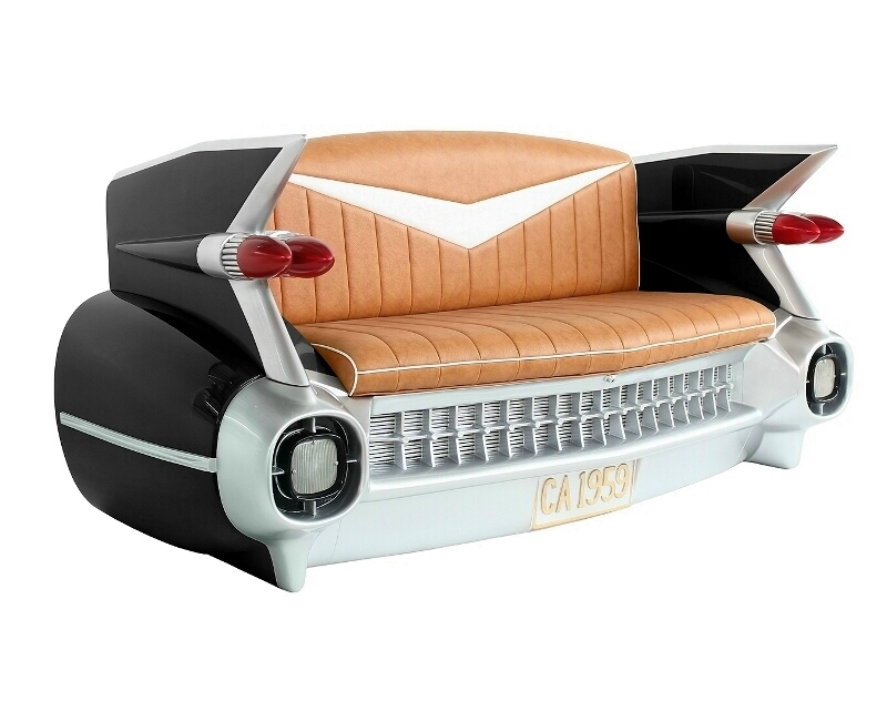 Vintage Cadillac Black Car Sofa