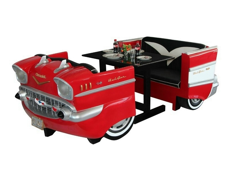 Vintage Car Decor Restaurant Seating Set